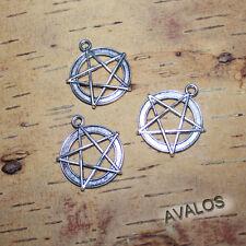 3x schöne Pentagramme als Anhänger, Gothic, Esoterik, Magie, antik silber