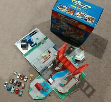 Vintage Micro Machines Super City Toolbox Playset Box 1988 Galoob and 13 cars
