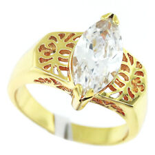 Marquise Cut Classis 2.65ct Stone 18kt Gold EP Ladies Ring Size 9