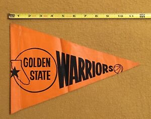 1970's Golden State Warriors Vtg Bicycle Pennant Rare Auto Dealership Promo NBA