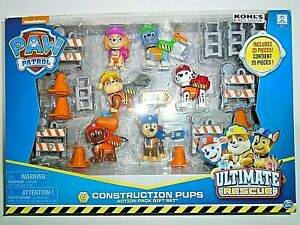 """Nickelodeon Paw Patrol Construction Pups Action Pack Gift Set """"NEW"""""""