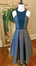 NWT NHA KHANH Textured A-Line Dress Black/Gold $645 - 0