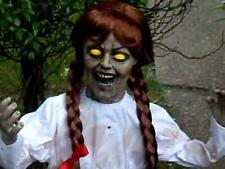 SEE VIDEO! Life Size Animated Annabelle Halloween Prop Doll HAUNTED HOUSE SPIRIT