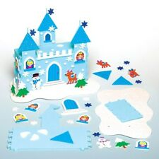 3D Snow Princess Foam Castle Christmas Eve Box Xmas Snowman Craft Create Display