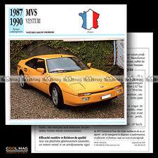 #083.18 MVS VENTURI V6 (1987-1990) - Fiche Auto Car card