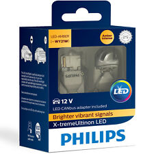 Philips X-tremeUltinon LED WY21W Amber Car Signal Bulbs (Twin Pack) 11065XUAX2