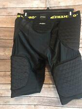 Champro Adult Mens Size Large Padded Shorts Black Athletic Sports Tri-flex