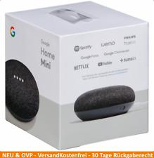 GOOGLE Home Mini Smart Speaker Sprachsteuerung Lautsprecher Karbon Schwarz NEU