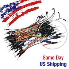 Jumper Wire Line Male to Male Arduino Breadboard PIC AVR Testing 65pcs USA SHIP!