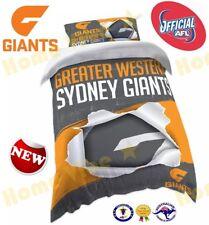 OFFICIAL AFL 2018 GWS GIANTS QUILT DOONA DUVET COVER SET ~ BRAND NEW SINGLE SIZE