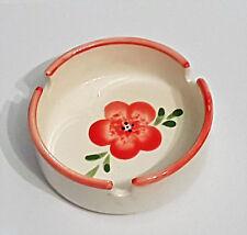 Aschenbecher rot Blume vintage altmodisch Keramik Ascher Landhaus shabby retro