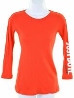 NIKE Girls Top Long Sleeve 8-9 Years Small Red Cotton  DK07