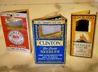 Vintage+Sewing+Needle+Case+-+Set+of+3+-+CLINTON+-+MILWARD+-+ELDORADO+-+ENGLAND