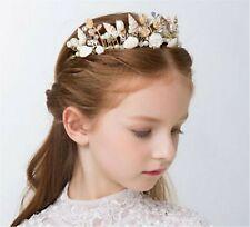 Girl Lady Mermaid Sea Conch Shell Pearl Hair Band Headband crown Tiara Accessory