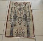 Accent Handmade Carpet 2.5x4 ft Distressed Rug Vintage Oushak Muted Runner C36