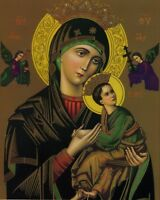 """Catholic print picture-OUR LADY OF PERPETUAL HELP 3- 8"""" x 10"""" ready to be framed"""