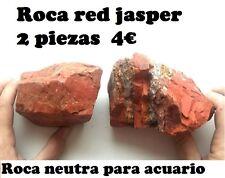 DECORACION DE ACUARIO: 2 PIEDRAS DE ROCA RED JASPER.