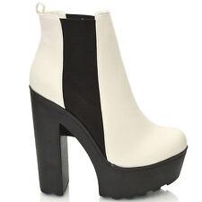 Women's Elasticated Wedge Heel Boots