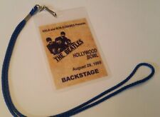 The Beatles Backstage Pass Hollywood Bowl with Signatures! lennon concert ticket