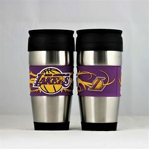 L.A. Lakers NBA Licensed 15oz Stainless Steel Tumbler w/ PVC Wrap