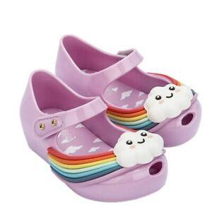 Mini Melissa Rainbow Jelly Shoes Girl Non-slip Kid Toddler Sandals US Size 6-11