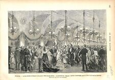Cracovie Fête Nationale Bal Sukiennice Kraszewski Danse Polonaise GRAVURE 1879