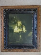 "ANTIQUE Carved Wooden Picture Frame 21"" x 16"" Opening 30"" x 26"" Over All"