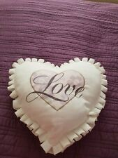 Dunelm heart shaped cushion
