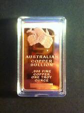 "1 OZ Australian ""Sydney Harbor Bridge"" Ingot 999.0 Pure Copper Bullion in Capsle"