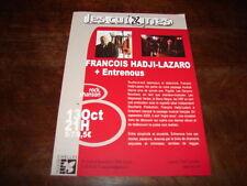 FRANCOIS HADJI-LAZARO - FLYER CHELLES OCTOBRE !!!!!!!!!