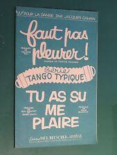 """Partition Faut pas pleurer M. PON, C. MANSARD """"Tango Typique"""" BEUSCHER"""""""