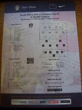 31/01/2001 Colour Teamsheet: Leeds United v Coventry City  (Dirty Marked). No ob