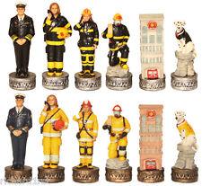 Chess Set Pieces Firefighters Fire Men Women & Dogs NIB
