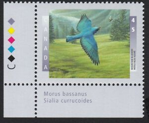 MOUNTAIN BLUEBIRD = Canada 1997 #1631 MNH LL Corner Stamp w/COLOR ID