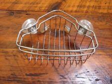 Stainless Steel Corner Suction Cup Soap Storage Shower Caddie Basket Organizer