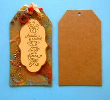 """Pkg of 12 Bare Chipboard Shipping Style Tags 3 1/2"""" x 6 1/4"""""""