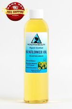 SUNFLOWER OIL UNREFINED ORGANIC CARRIER COLD PRESSED VIRGIN RAW PURE 8 OZ
