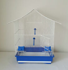 Bird Cage China House Canaries Budgies Finches Parrot Waste Box Feeder Seat