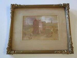 ANTIQUE 19TH CENTURY OLD MASTERFUL OLD HOUSE PARLIAMENT STREET NOTTINGHAM 1893