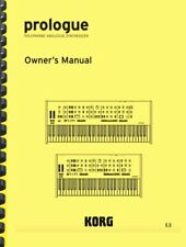 Korg Prologue Owner's Manual AND Quick Start Guide
