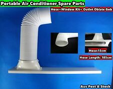Portable A/C Spare Part Outlet oblate gob+Window Kit+hose 1.85m - 3pc/Set (13cm)