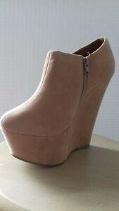 Womens ladies girls high heel platform wedges u.k size 5
