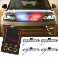 16 LED Car Truck Police Strobe Flashing Light Flash Dash Lamp Urgent 4 in1 Kit