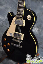 New Epiphone Left Handed Les Paul Standard Electric Guitar in Ebony/Black