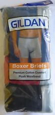 Gildan 4 Pack Premium Cotton Boxer Brief Men's Underwear Choose Your Colors/Size