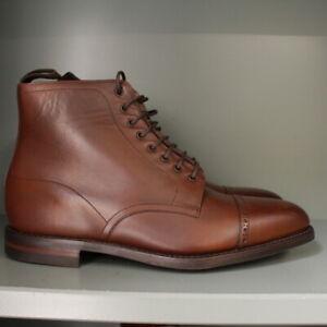 Loake Hyde Brogue Boots 8 F  in Dark Brown Calf on Dainite Soles (200)