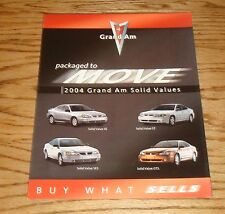 Original 2004 Pontiac Grand Am Foldout Sales Brochure 04 SE GT