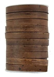 Distressed  Brown Decorative leather cord 10 mm x 2 mm