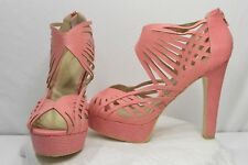 Q by Esquire Pink Olivia Fashion Casual Platform Dress Strappy Heels Size 11