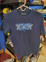 Boy's Under Armour Blue Short Sleeve T Shirt With Baseball Logo Size Youth XL